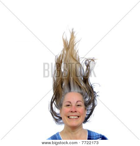 Happy Woman With Hair Up