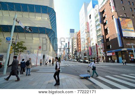 Tokyo, Japan - November 26, 2013 : People Shopping At Ginza Area
