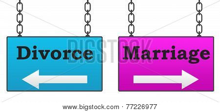 Marriage Divorce Signboard