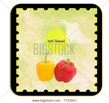 Personalizable Label For Peppers Products - Italian