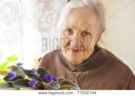 Elderly Woman Flower