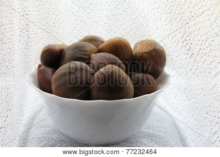 Chestnuts In The Porcelain Dish