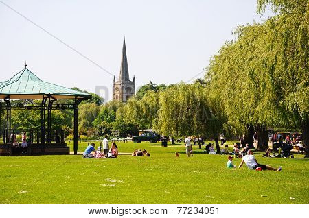 Town park, Straford-upon-Avon.