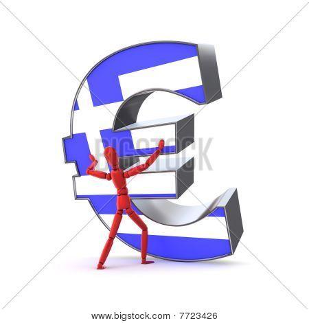 Mantendo-se o Euro - bandeira grega