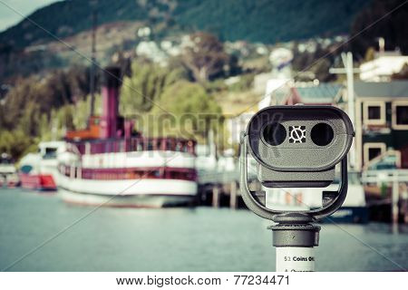 Vintage Twin Screw Steamer - Symbol Of Lake Wakatipu And Queenstown In New Zealand.