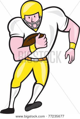 American Football Fullback Front Retro