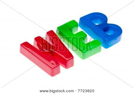 Plastic Toy Magnetic Letters Spelling Web - Online Education