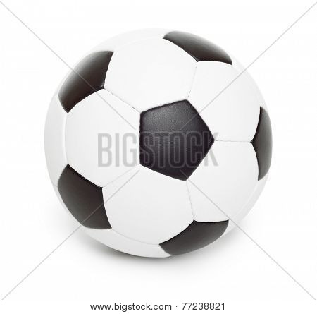 soccer ball object isolated on white