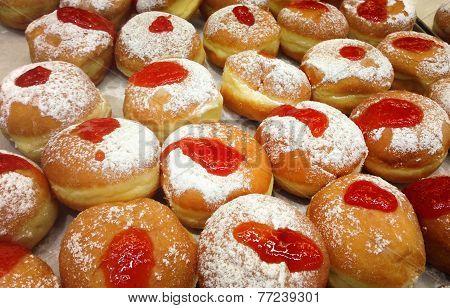 Hanukkah jelly donuts