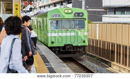 JR Nara Line in Kyoto