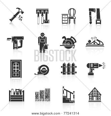 Carpentry Icons Black