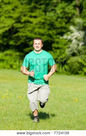 Young Man Running