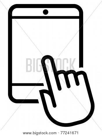Tablet click icon