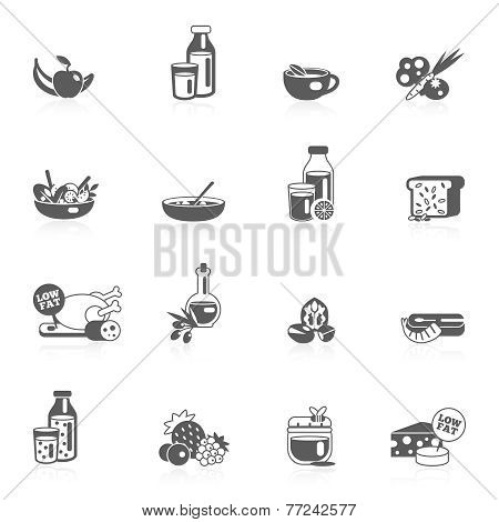 Healthy Eating Black Icons
