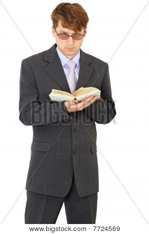 People With Book In Hands Standing On White