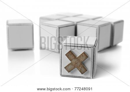 Educational cubes, isolated on white