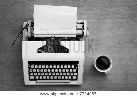 Typewriter And Cofee