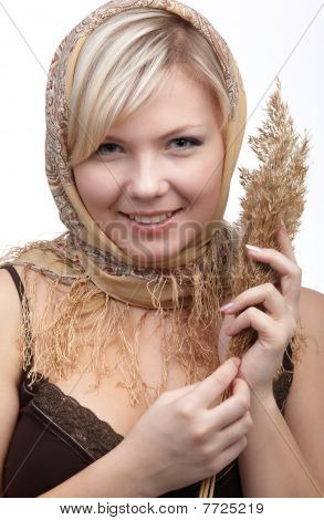 Girl With Wheat Spike