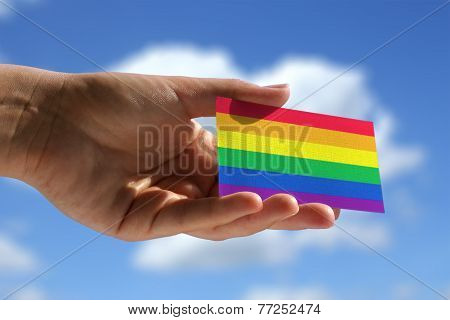 Rainbow Flag On Visiting Card