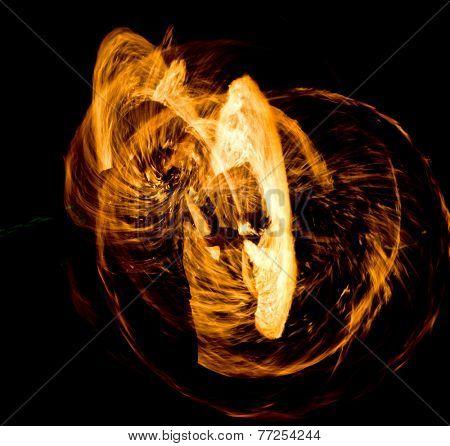 Fiery Motion Orange Flames