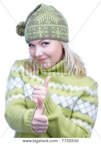Girl In Warm Clothes