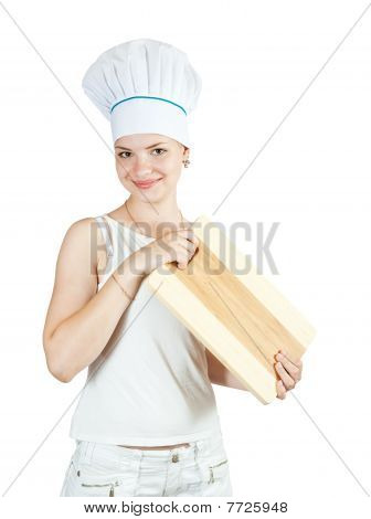 Female Cook In White