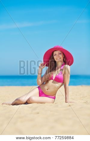 Young sexy girl on the beach