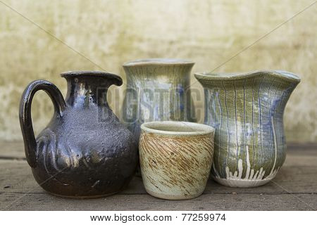 Selection of ceramic jugs