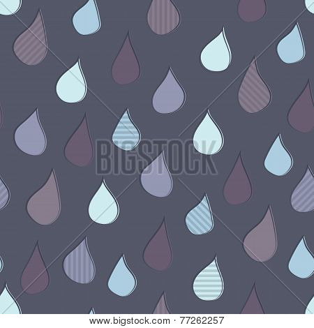 Seamless Raindrops Background