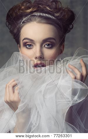 Woman With Aristocratic Romantic Style