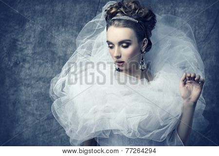 Woman With Bizarre Romantic Dress