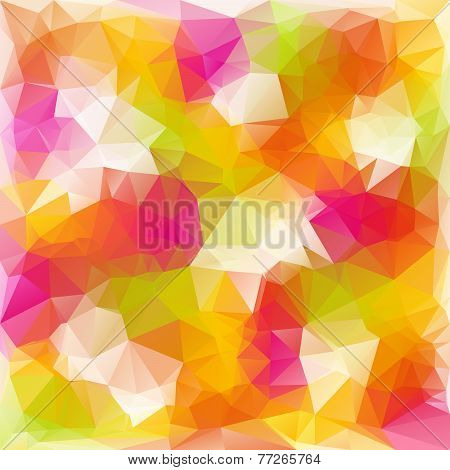 Vector Polygonal Background With Irregular Tessellations Pattern In Reflextive C