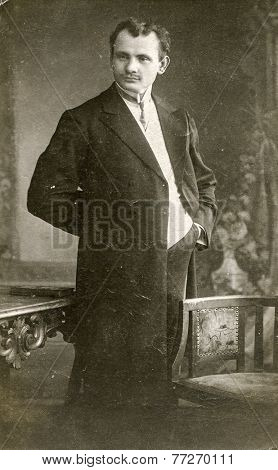 GERMANY, CIRCA 1920s: Vintage photo of man
