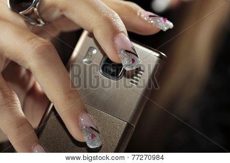 Finished Nails - Holding Phone