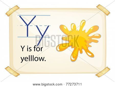 A letter Y for yellow on a white background