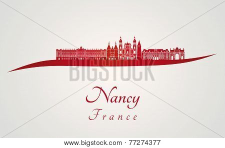 Nancy Skyline In Red