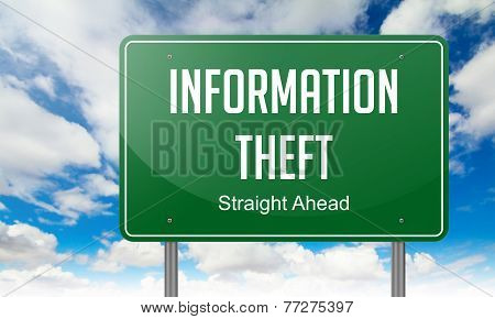 Information Theft on Highway Signpost.