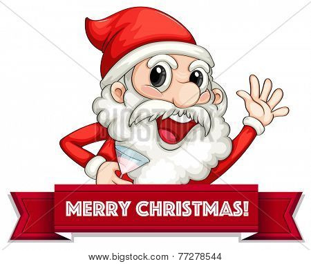 Banner of Merry Christmas message