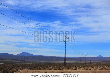 transmission lines in highlands of Bolivia