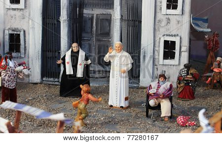 Pope Bergoglio Francis The First Miniature