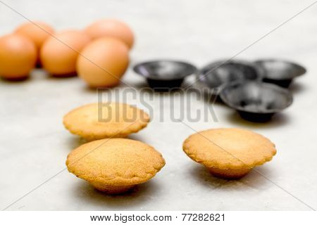 Short Pastry Cookies With Eggs And Mould