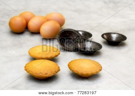Short Pastry Cookie With Eggs And Mould