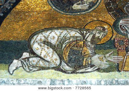 Emperor Leon Vi, Hagia Sofia, Istanbul