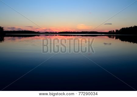 Night's Rest. Lake Engozero, North Karelia, Russia