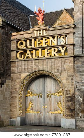 Entrance Doors To The Queen's Gallery In Edinburgh, Scotland