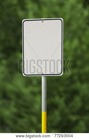 Blank White Sign