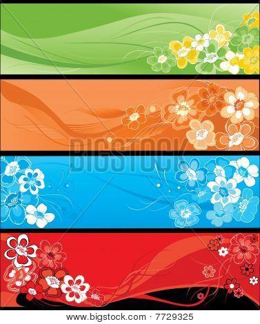Sommer Blumen vertikale banners.eps