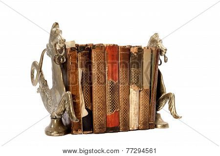 Old Books In Book Stands