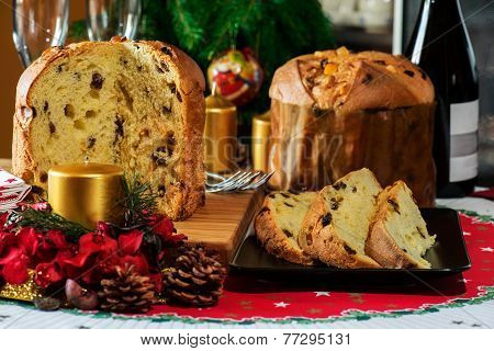 Italian Typical Christmas Cake Called