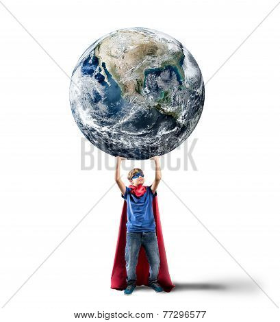 Little Superhero Saves The World
